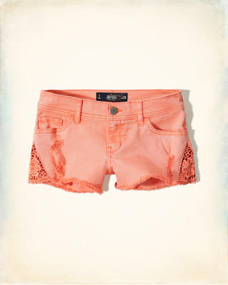 Low Rise Denim Short-Shorts