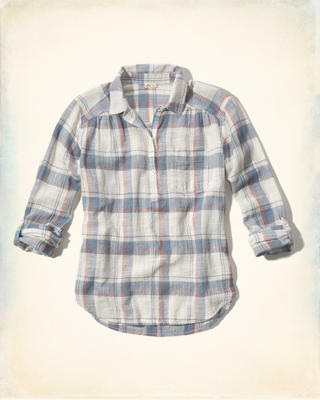 Textured Popover Shirt