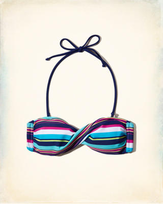 Twist Bandeau Swim Top