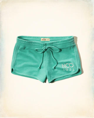 Terry Curved-Hem Shorts