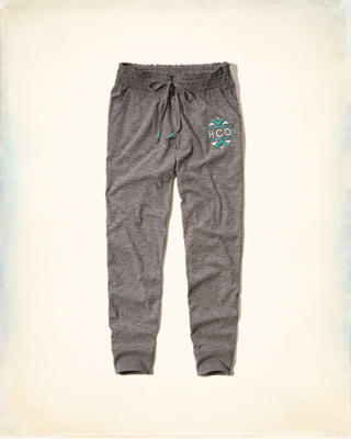 Smocked-Waist Graphic Joggers