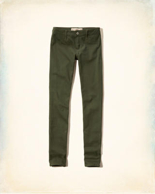 Hollister Low Rise Super Skinny Twill Pants