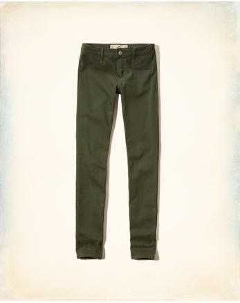 hol Hollister Low-Rise Super Skinny Twill Pants