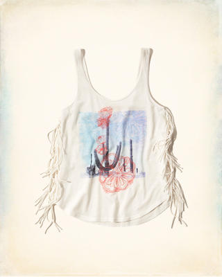 Side-Fringe Graphic Tank