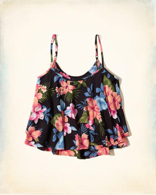 Two-Tier Printed Cami