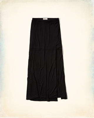 Side-Slit Knit Skirt