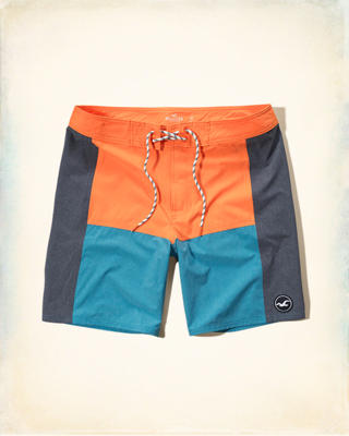 Color Blocked Classic Fit Boardshort