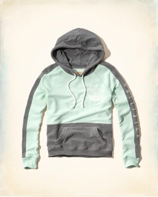 Colorblock Logo Graphic Hoodie