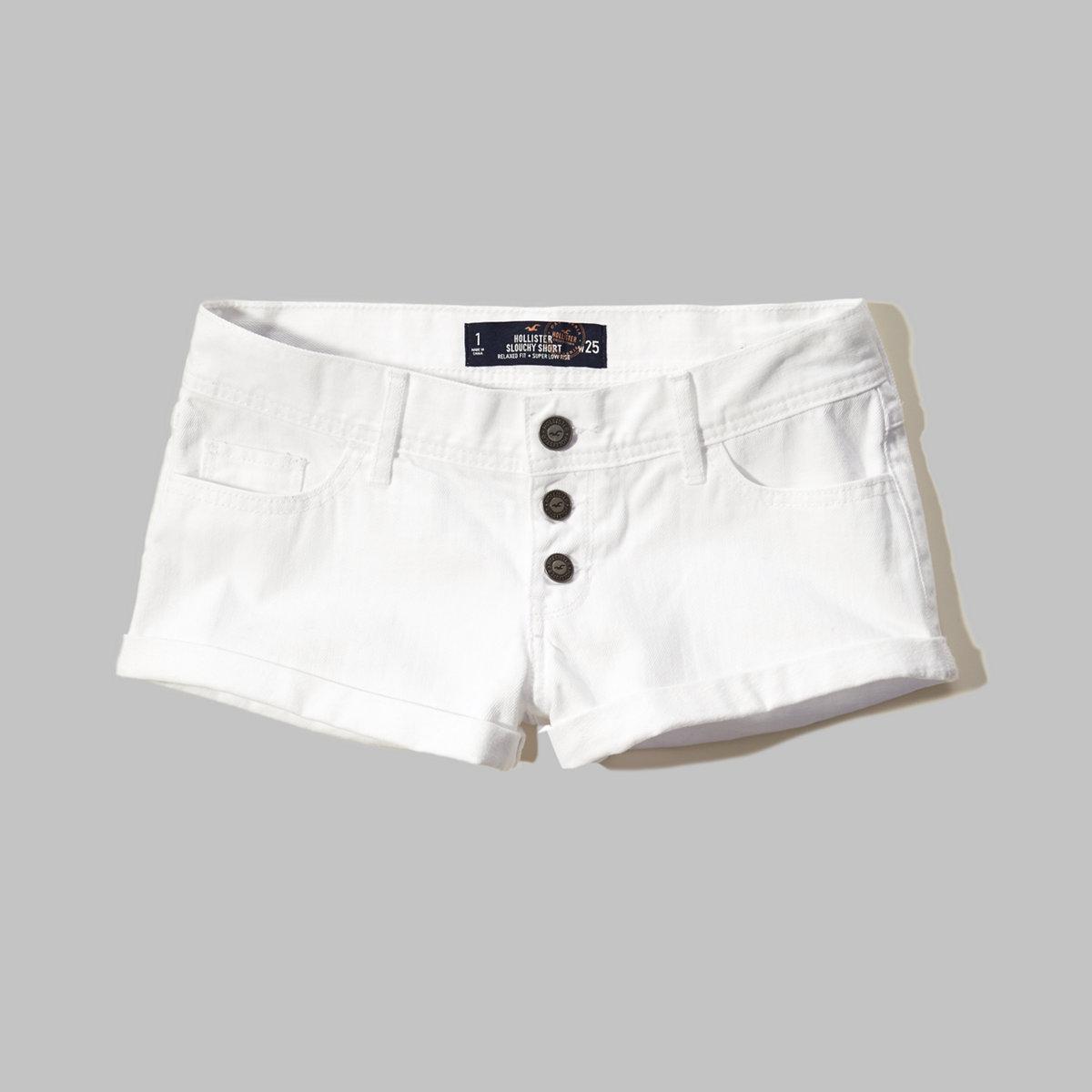 Super Low Rise Denim Short-Shorts