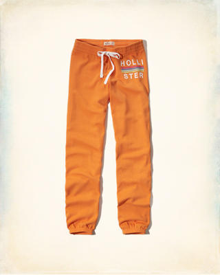 Hollister Graphic Banded Sweatpants