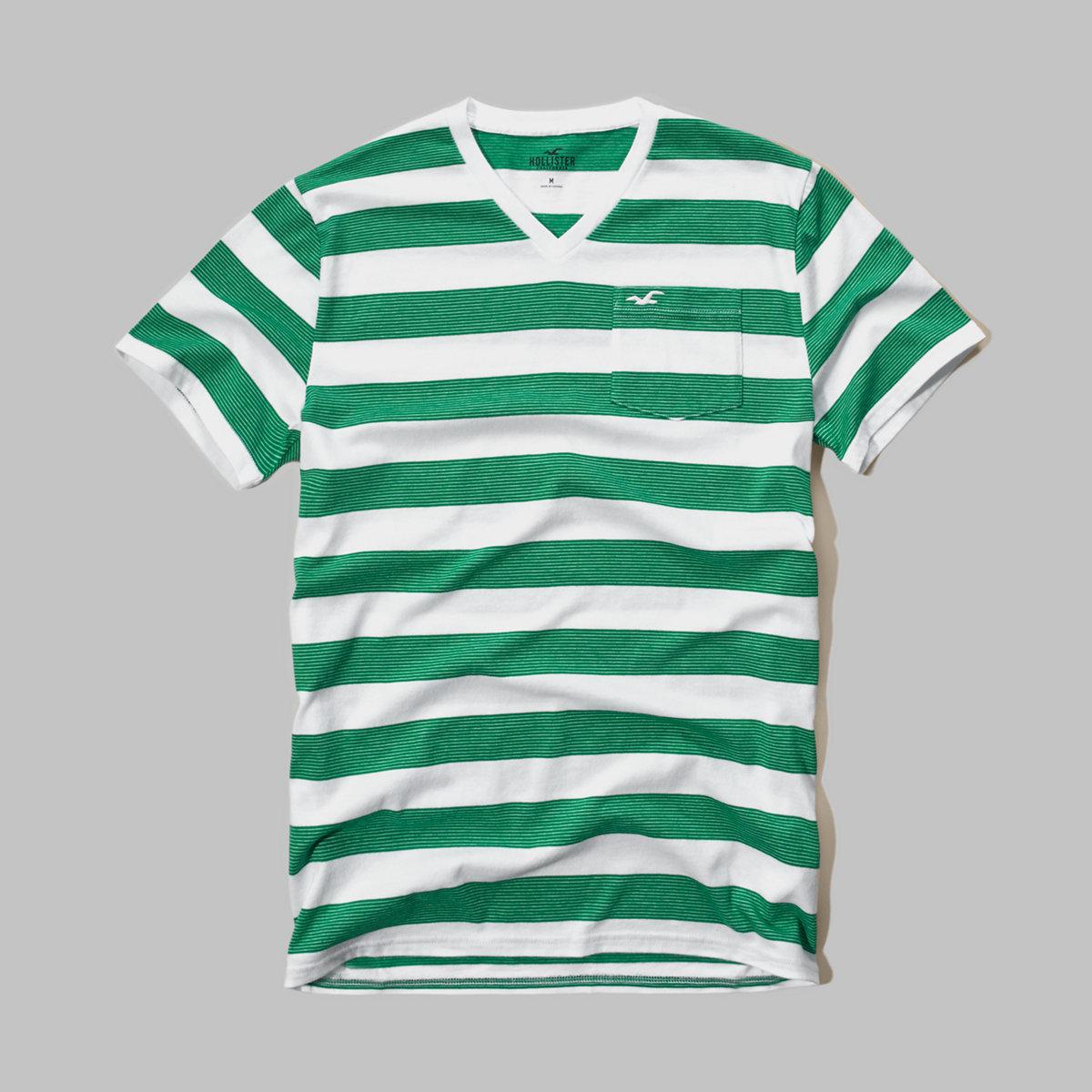 Stripe V-Neck T-Shirt