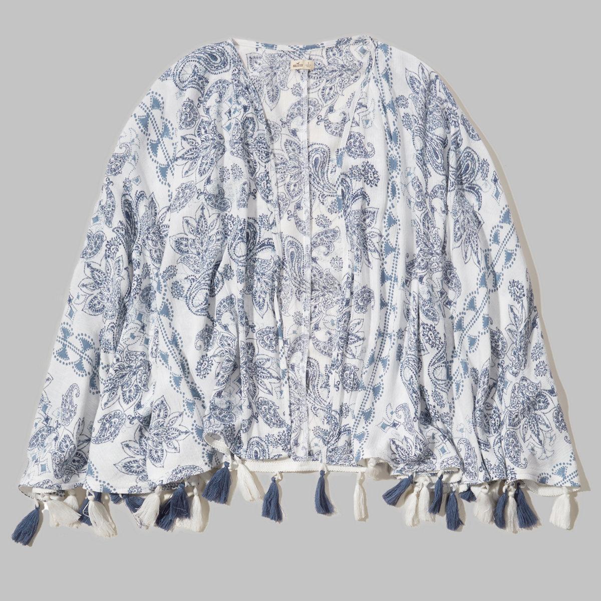 Tassel Open Kimono