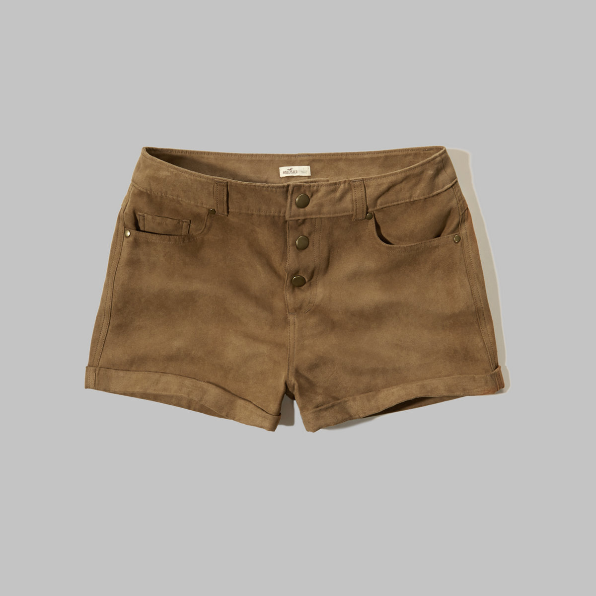 5 Pocket Suede Shorts