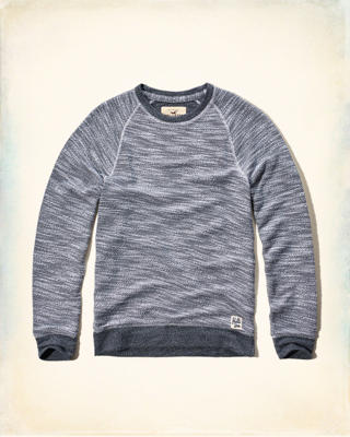 Textured Fleece Sweatshirt
