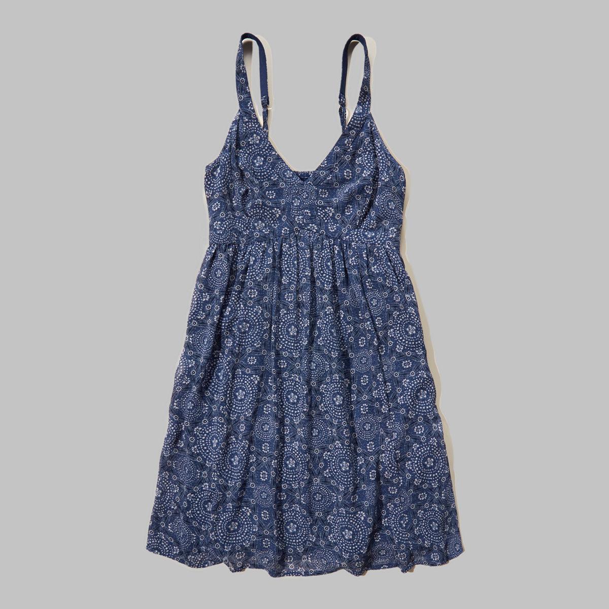 Smocked-Back Chiffon Dress