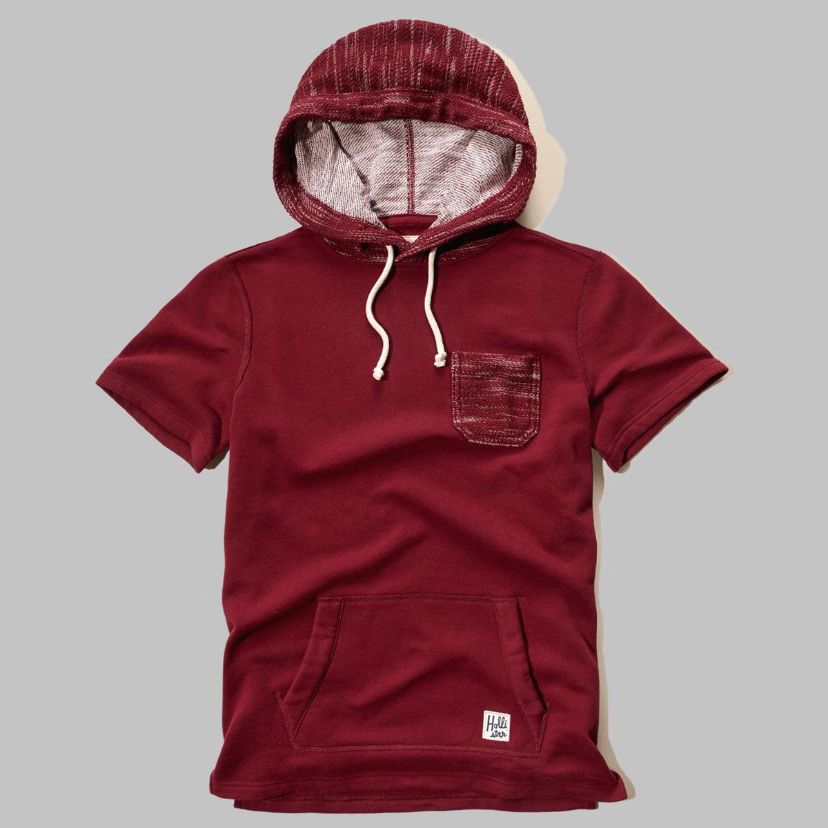 Short-Sleeve Fleece Hoodie