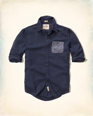 Contrast Pocket Cotton-Linen Shirt