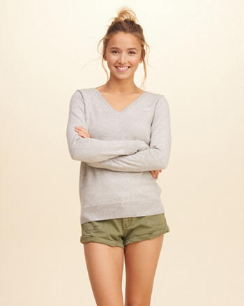 V-Neck Icon Sweater
