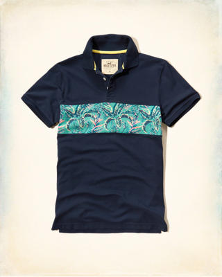 Trapped Pattern Contrast Polo