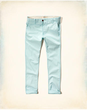 hol Hollister Skinny Ankle Zipper Fly Chinos
