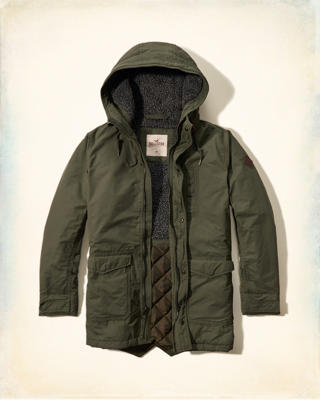 Coated Cotton Sherpa Parka