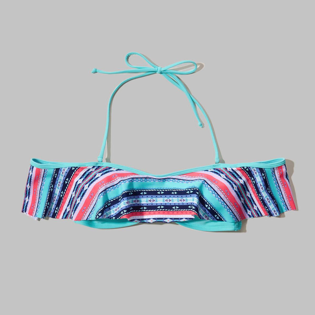 Off-The-Shoulder Flounce Swim Top