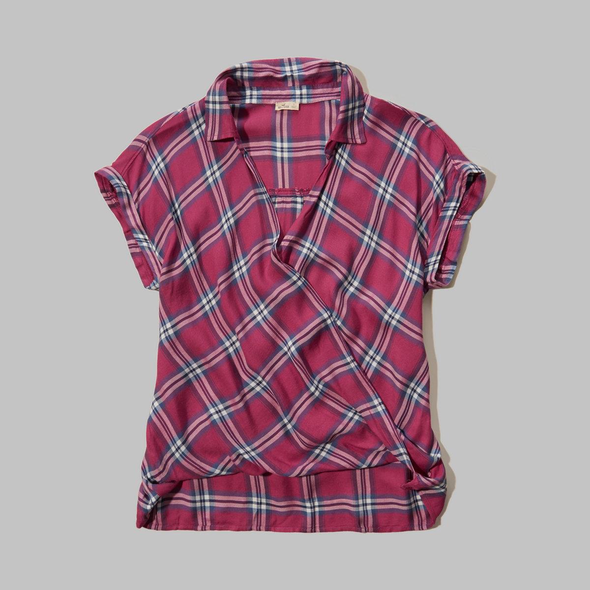 Wrap Front Dolman Shirt