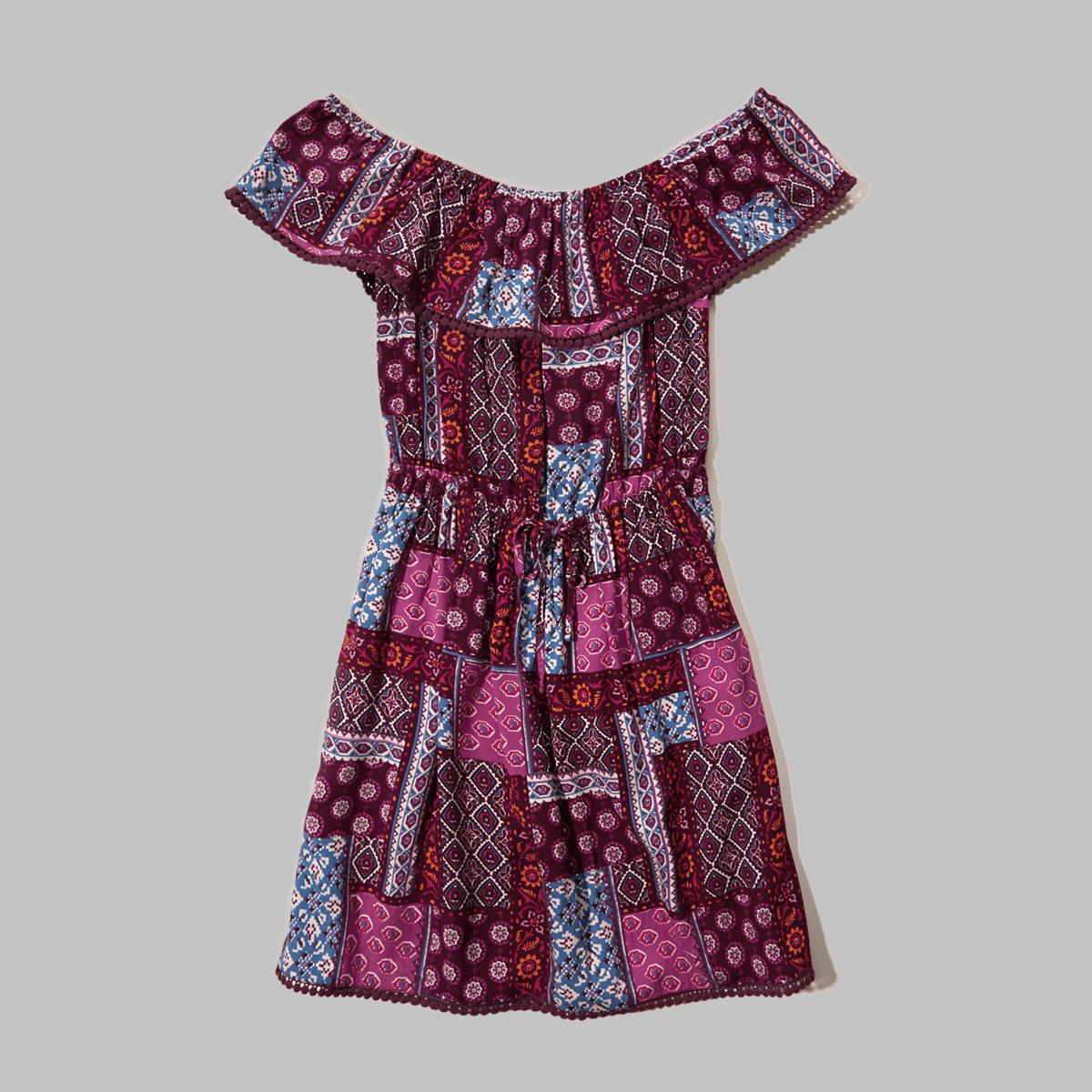 Tie-Waist Off-The-Shoulder Dress