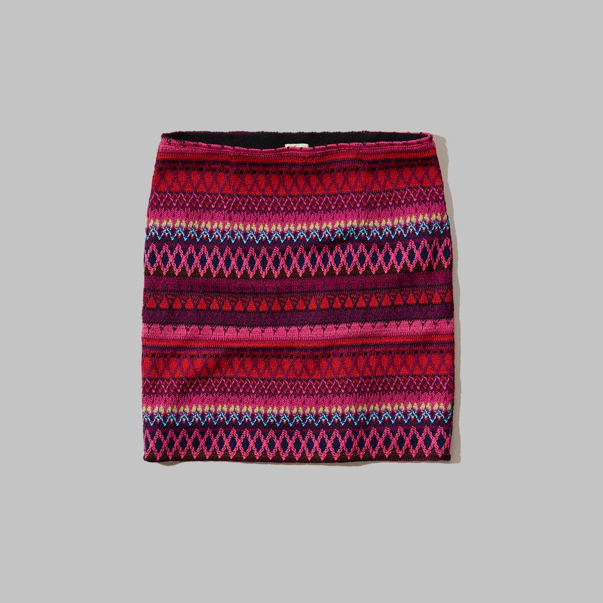 Jacquard Pull-On Skirt