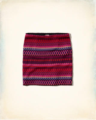 Jacquard Pull-On Skirt