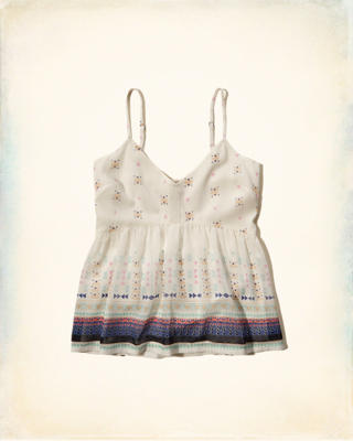Smocked-Back Lined Cami