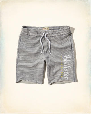 Fleece Logo Jogger Shorts