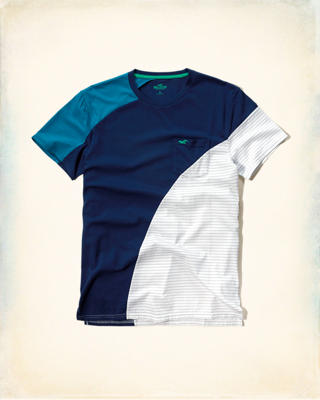 Mixed Pattern Pocket T-Shirt