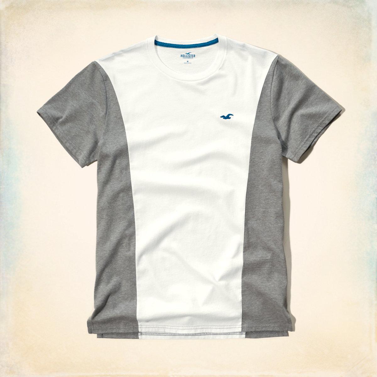 Mixed Pattern Pocket T-Shirt