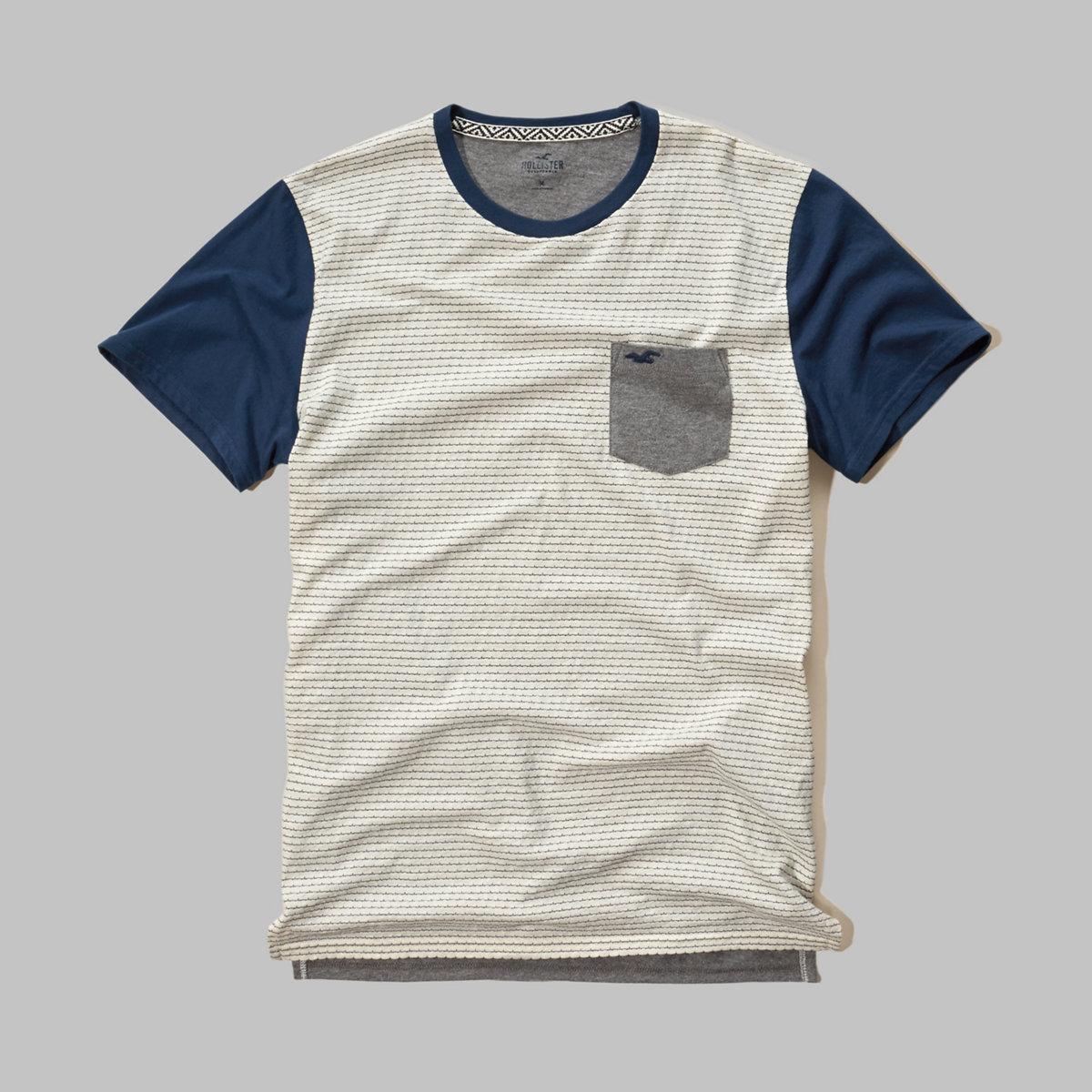 Textured Contrast T-Shirt