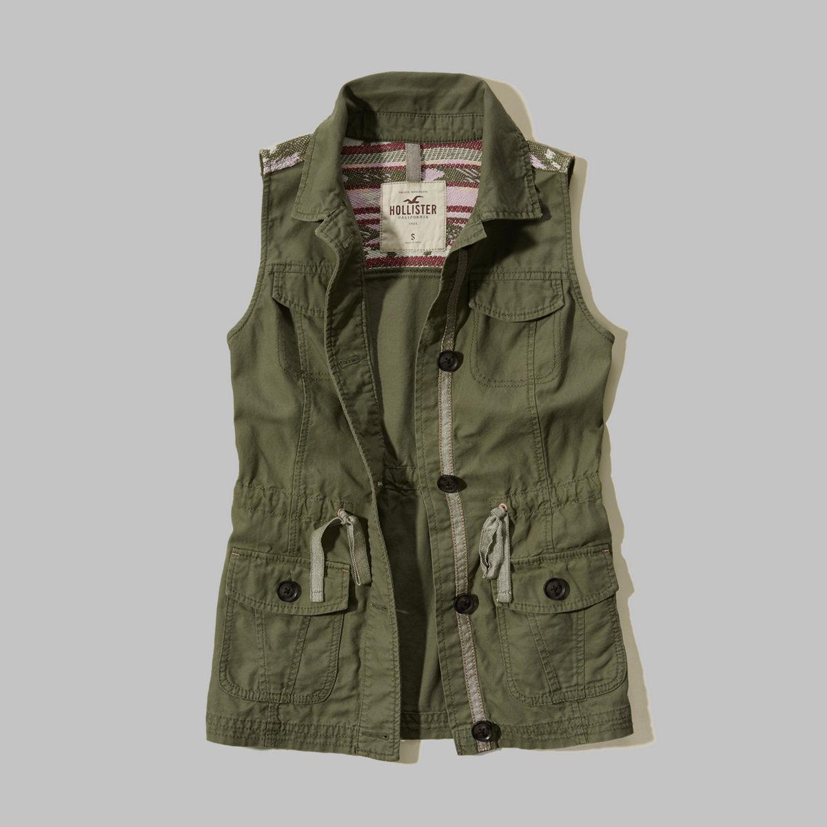 Patterned Military Vest