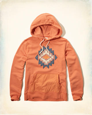 Applique Graphic Fleece Hoodie