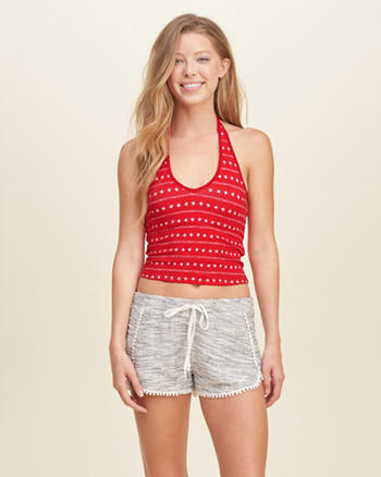 Slim Cropped Halter Top