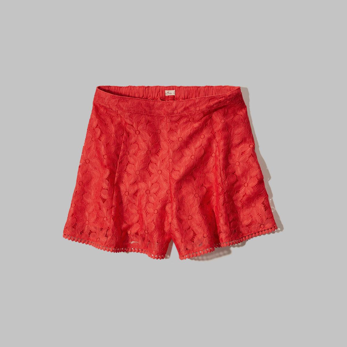 Lace High Waist Culotte Shorts