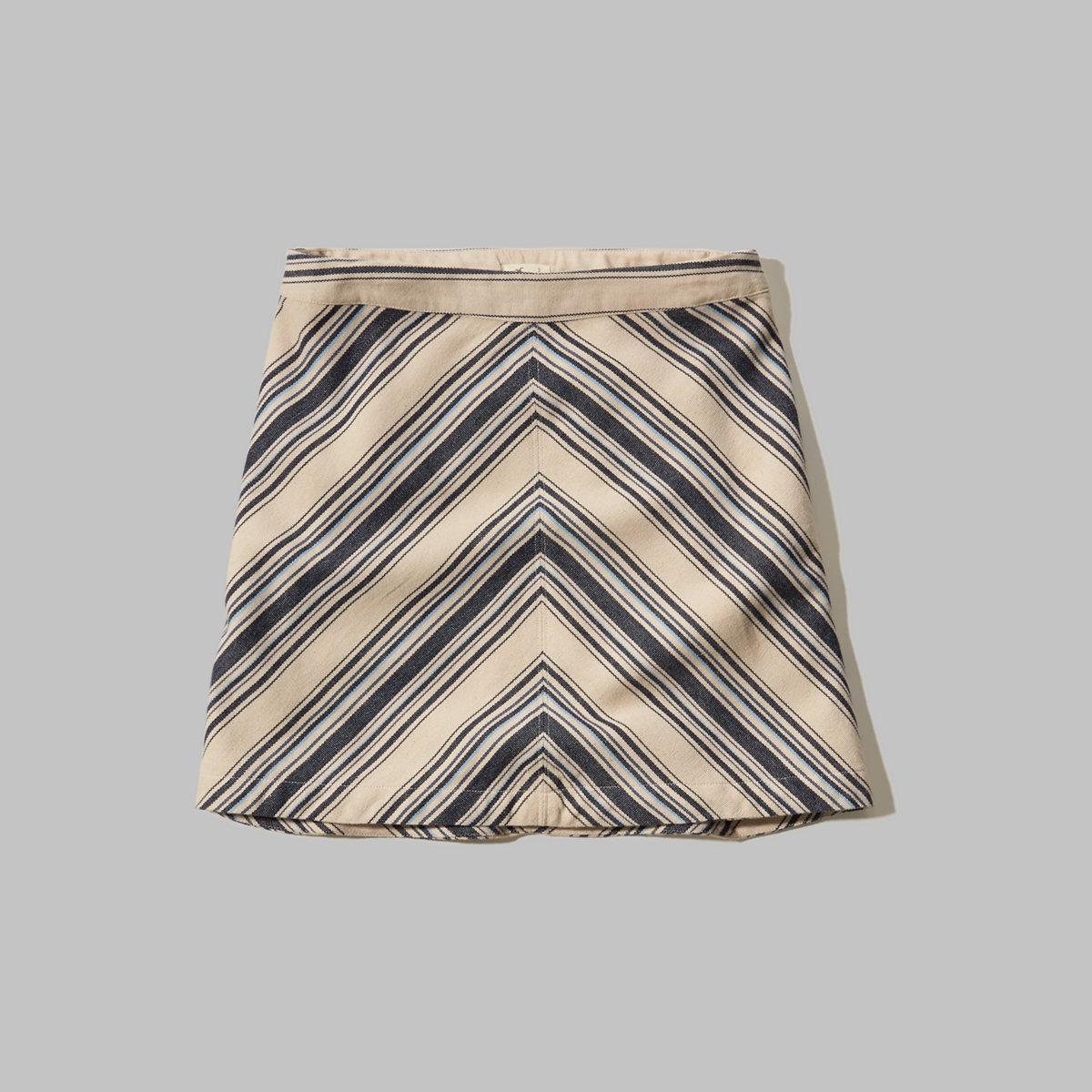Chevron A-Line Skirt