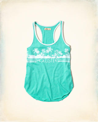 Racerback Graphic Jersey Tank