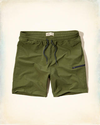 Hollister Beach Prep Fit Nylon Jogger Shorts