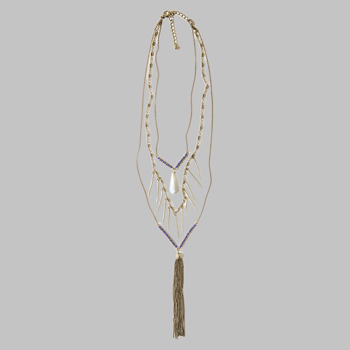 Tassel Embellished Layer Necklace