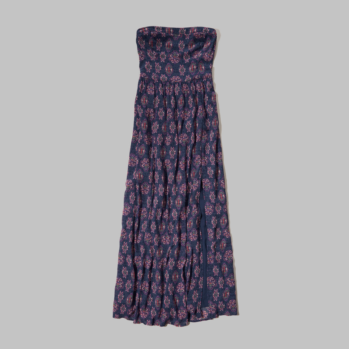 Strapless Chiffon Maxi Dress