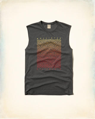 Logo Graphic Cutoff Tank