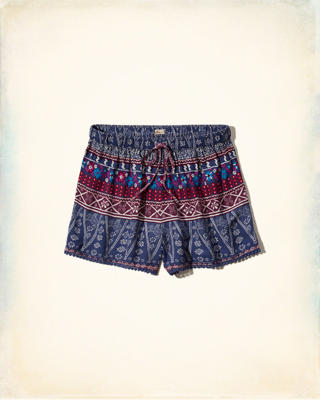 Edged Drapey Shorts