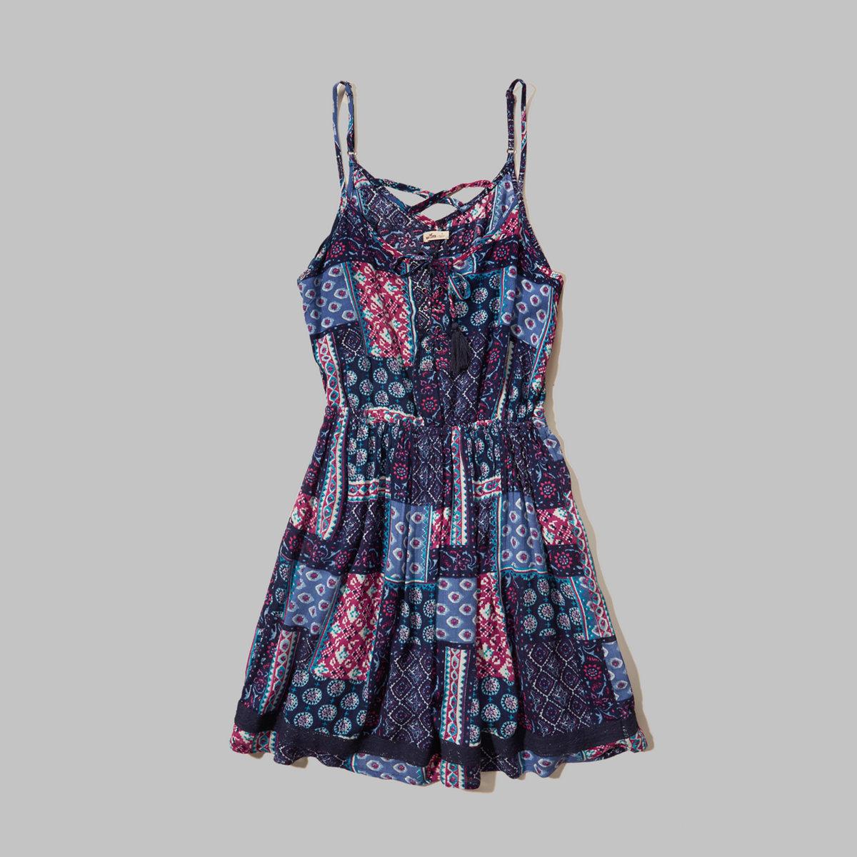 Lace-Up Strappy-Back Dress