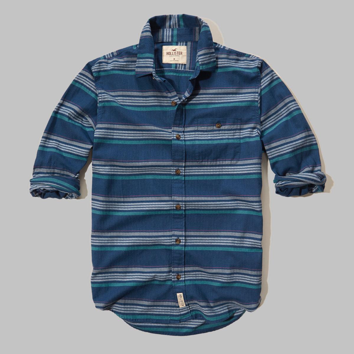 Patterned Brushed Cotton Shirt