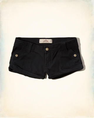 Hollister Super Low-Rise Slouchy Shorts