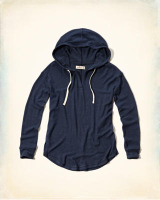 Notch-Front Easy Hoodie